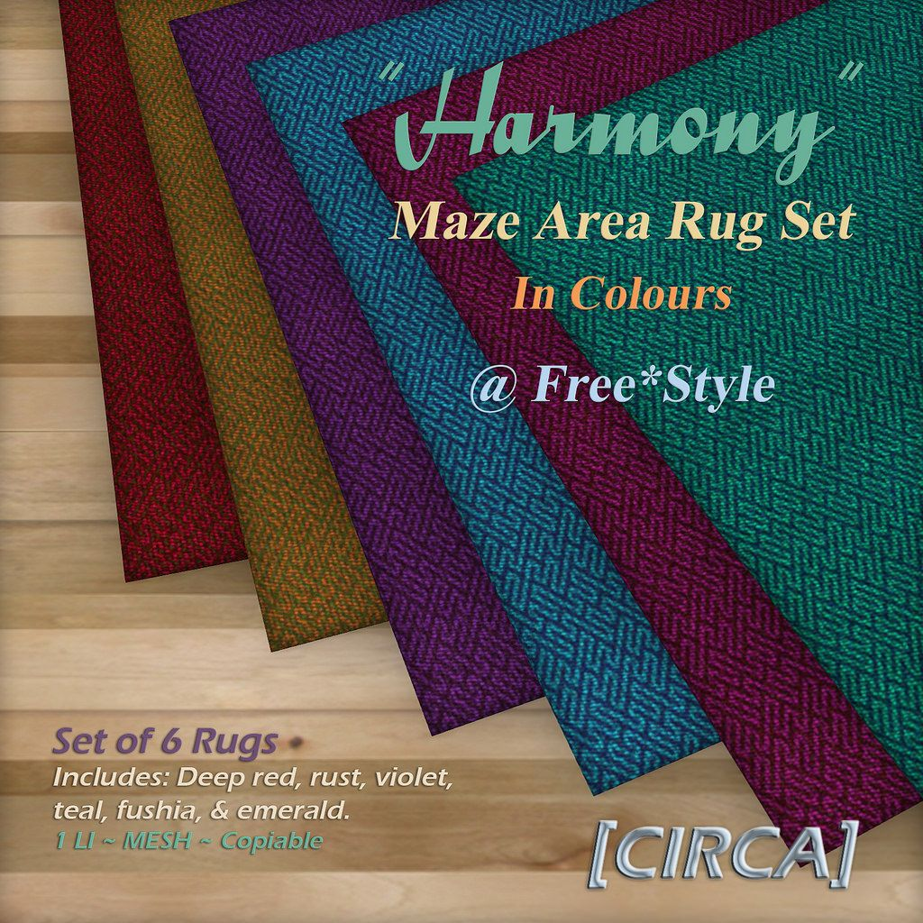 """You can find this new gift at the Shop Free*Style HQ location.  Fatpack of area rugs as part of our retro """"Harmony"""" series. Details include: retro telephone with ring and dialing sounds, polaroid camera, & polaroid photos.  Find us here: Visit CIRCA @ Shop Free*Style"""