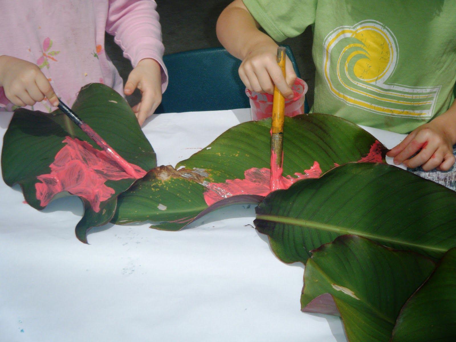 Nature\'s canvas: painting natural materials at preschool- Could ...