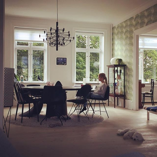 Cosy weekend #emmaandmolly #ourplace #frederiksberg #apartment #greenoutside #lovethisplace #interior #interiør #design #indretning #interiordesign
