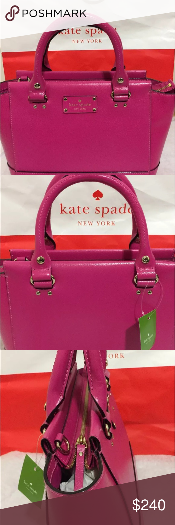 9db9dd9192f2e KATE SPADE Small CAMRYN pink Leather Handbag  279.99 with original tag. BRAND  NEW kate spade Bags Satchels