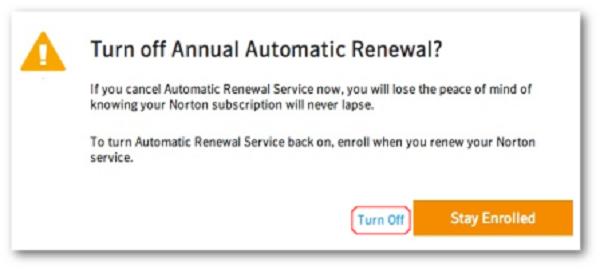 How to cancel norton auto renewal