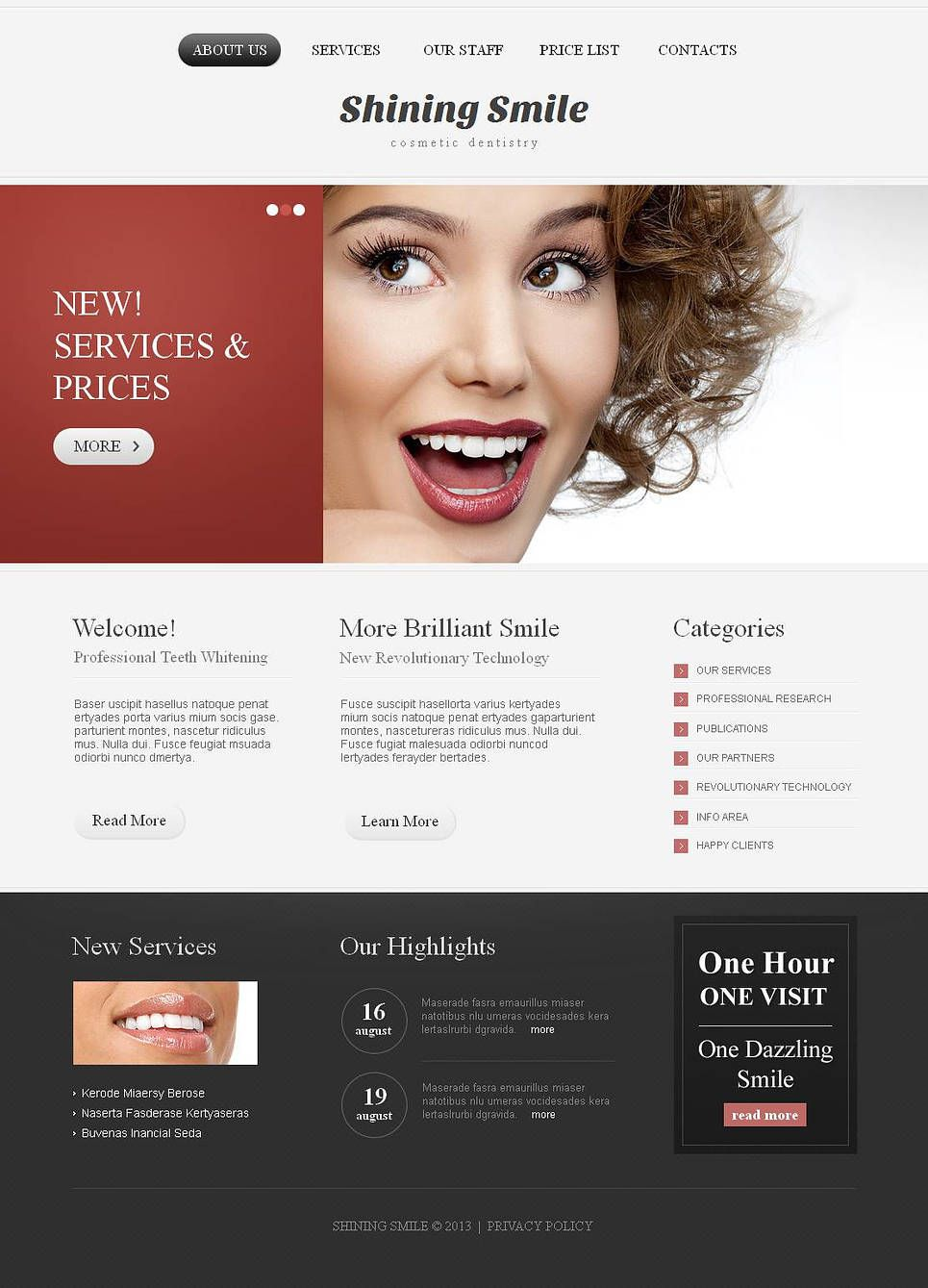 Dentistry Moto Cms Html Template Dental Dentist Website