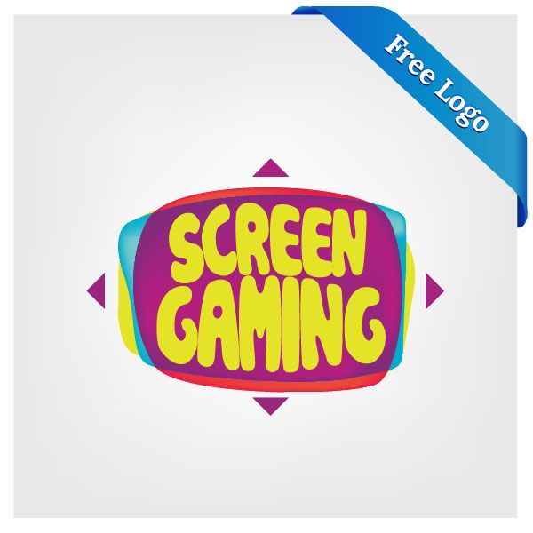 Free-Vector-Screen-gaming-Logo-Download FYP Pinterest Video - fresh wedding invitation vector templates free download