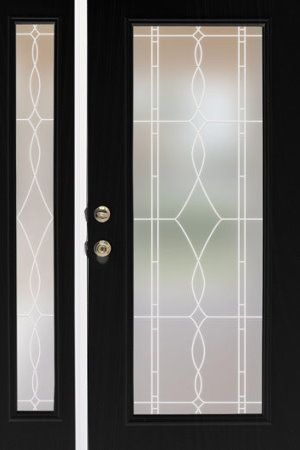 Allure Leaded Glass Privacy Window Film Static Cling