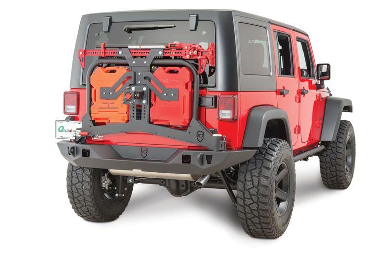 Jcr Offroad Adventure Rear Bumper Tire Carrier Hi Lift Mount In