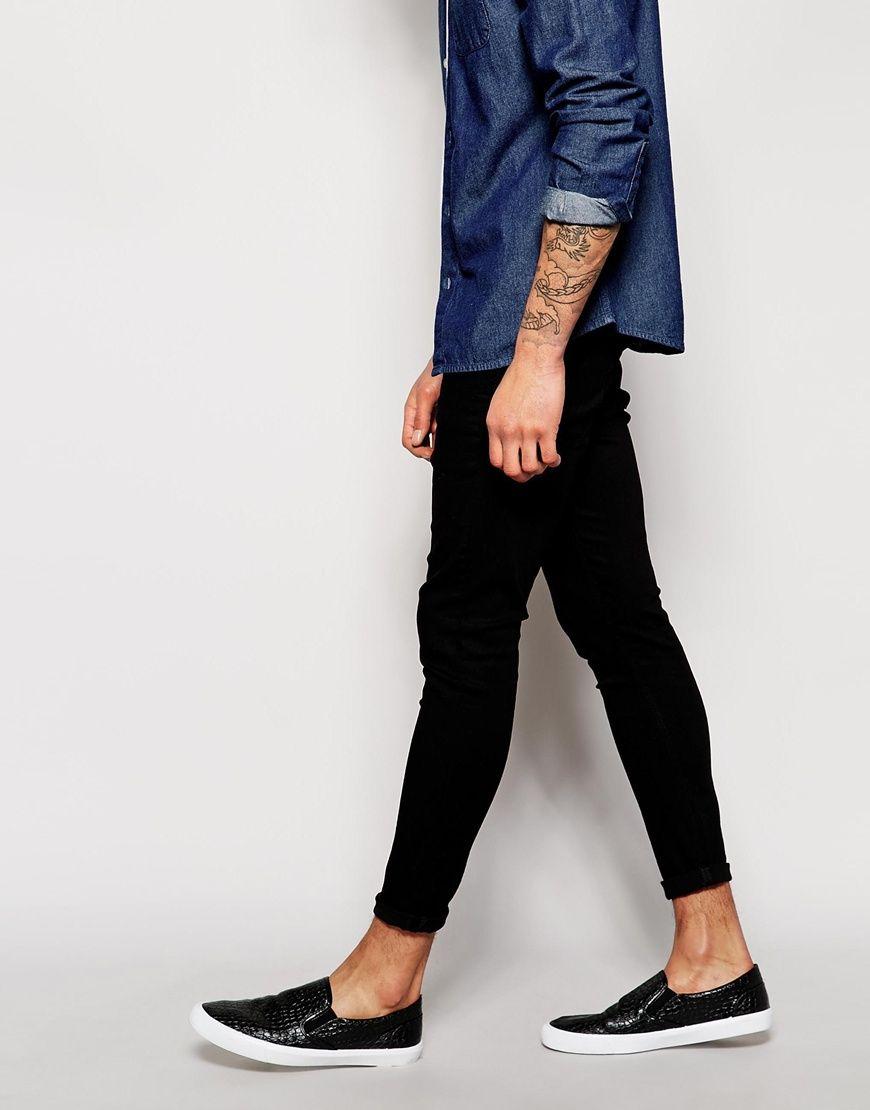 Asos Mens Super Skinny Jeans Black - ASOS Basics