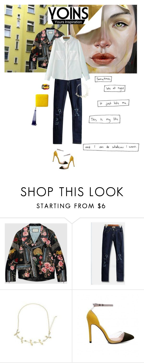 """Yoins"" by tamara-40 ❤ liked on Polyvore featuring Gucci, fashionset, yoins and yoinscollection"