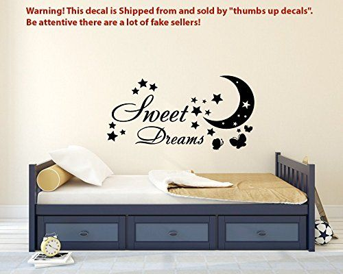 sweet dreams wall decals for nursery butterfly decal stars vinyl