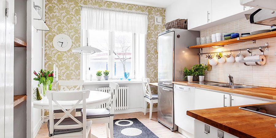 Swedish Style Interior Decorated With Ikea Furniture And Accessories