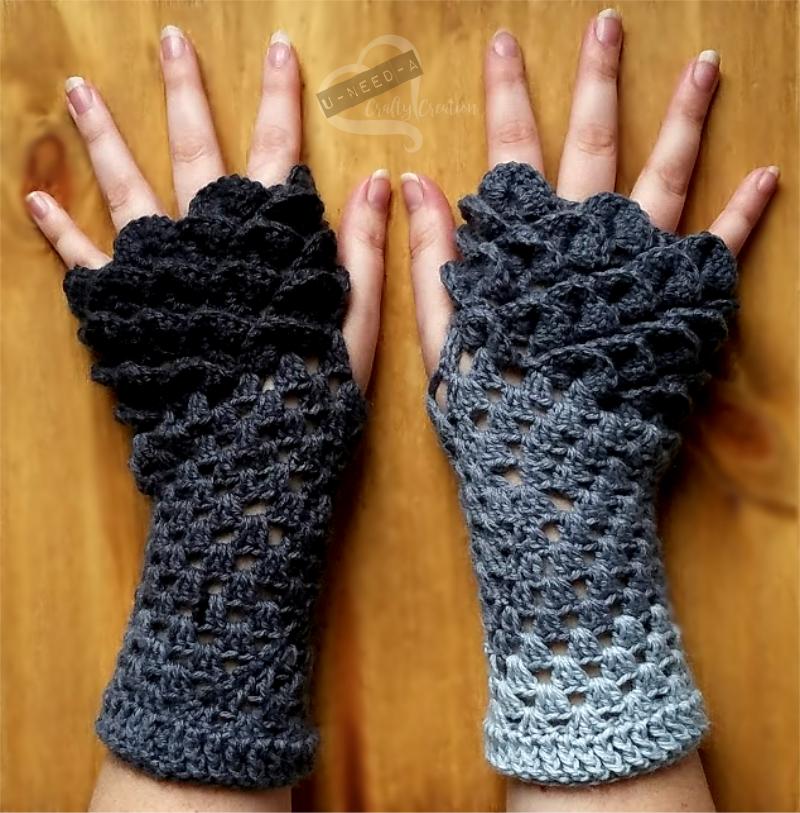 Dragon Scale Gloves Free Crochet Pattern | Pinterest | Ganchillo y ...