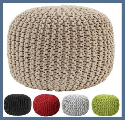 Knitted GUMBALL Ottoman Pouffe Foot Stool Pouf Footstool Round Poof Poufee  sc 1 st  Pinterest & Knitted GUMBALL Ottoman Pouffe Foot Stool Pouf Footstool Round ... islam-shia.org