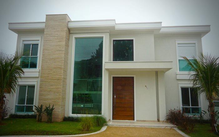 Portas de entradas de casas modernas com p direito alto pesquisa google minha casa - Entrada de casas modernas ...