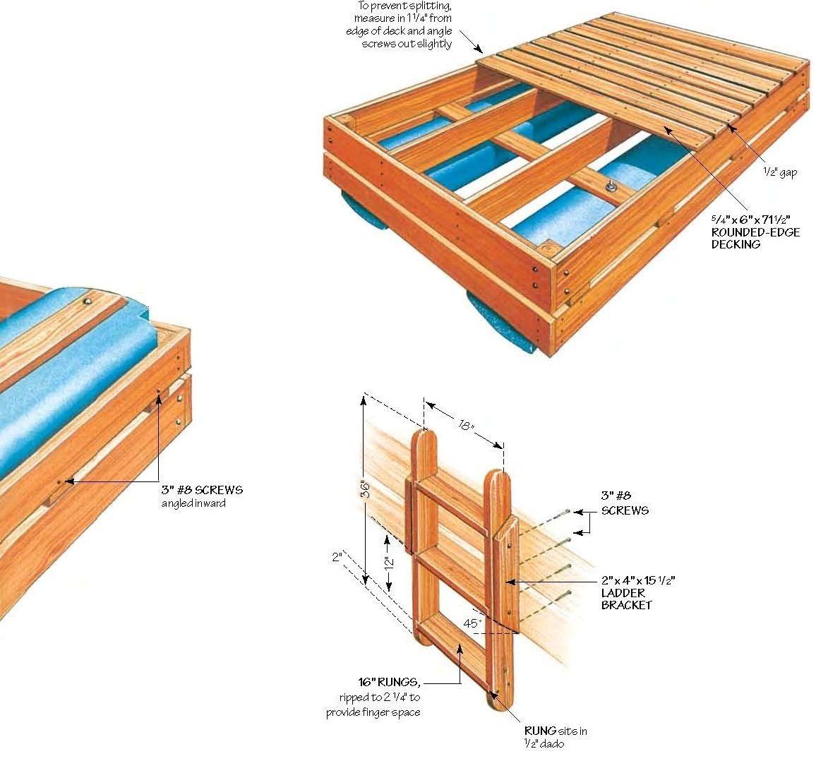 Free swim raft wood plans diy pinterest wood plans for Pool platform ideas