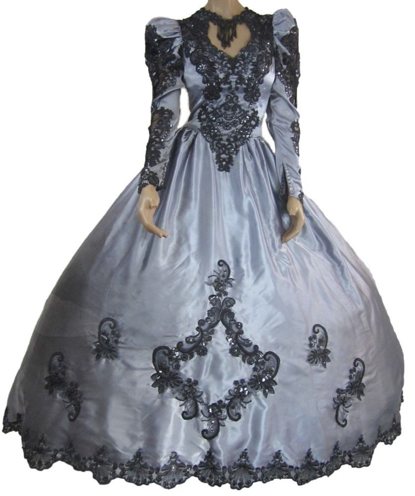 Gothic Wedding Dress Steampunk Victorian Ball Gown Rococo Masquerade ...