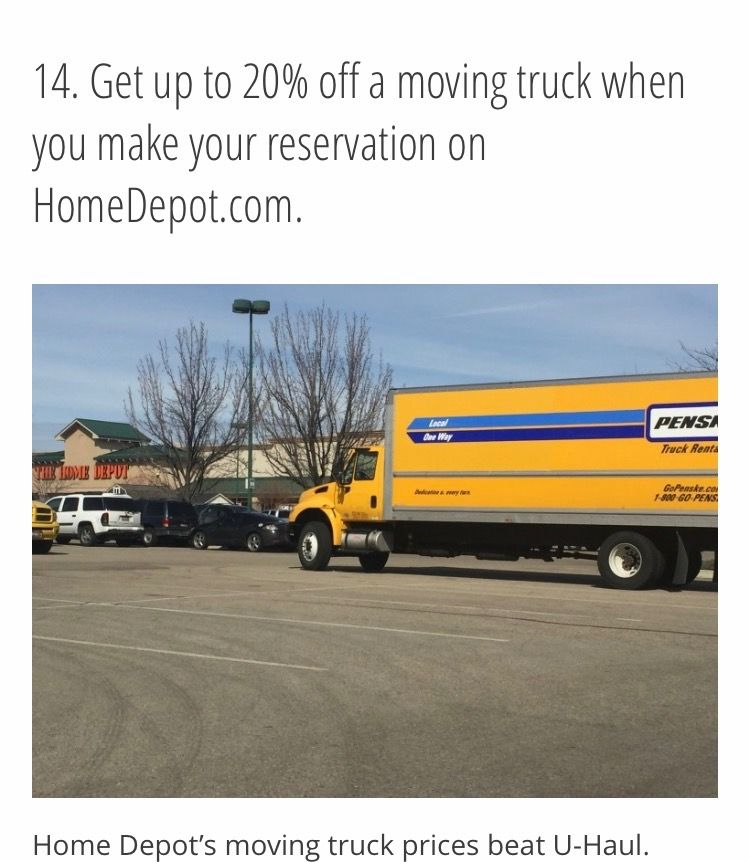 Pin by maria camp on home home depot moving truck