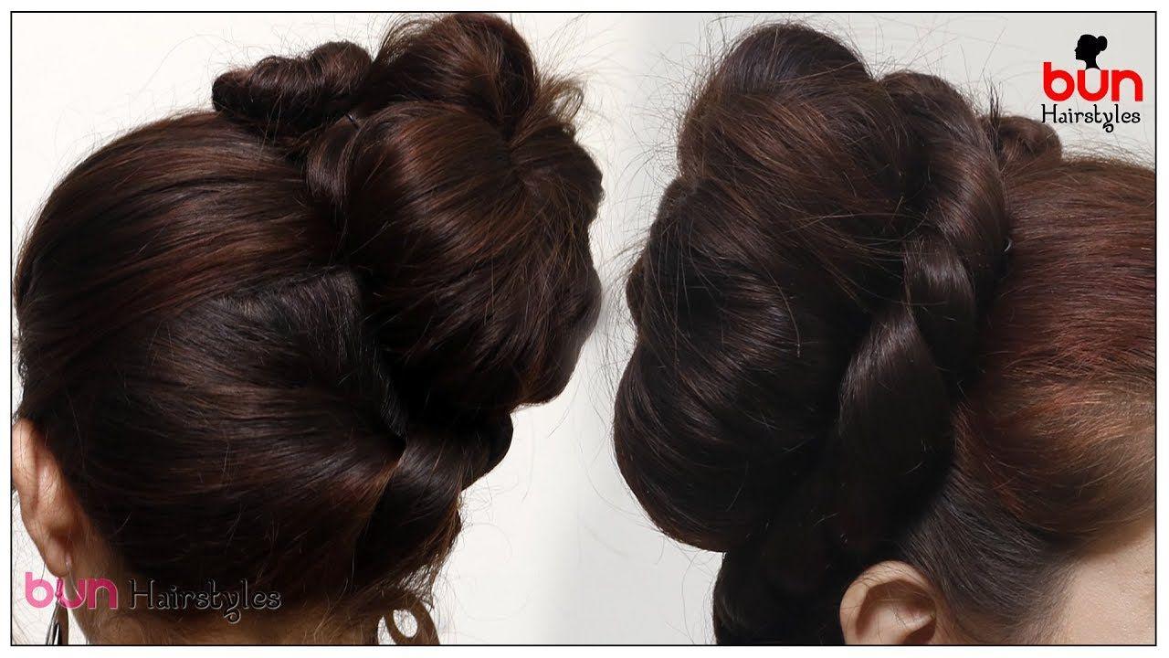 Minute elegant side bun fancy bun hairstyle latest trendy bun
