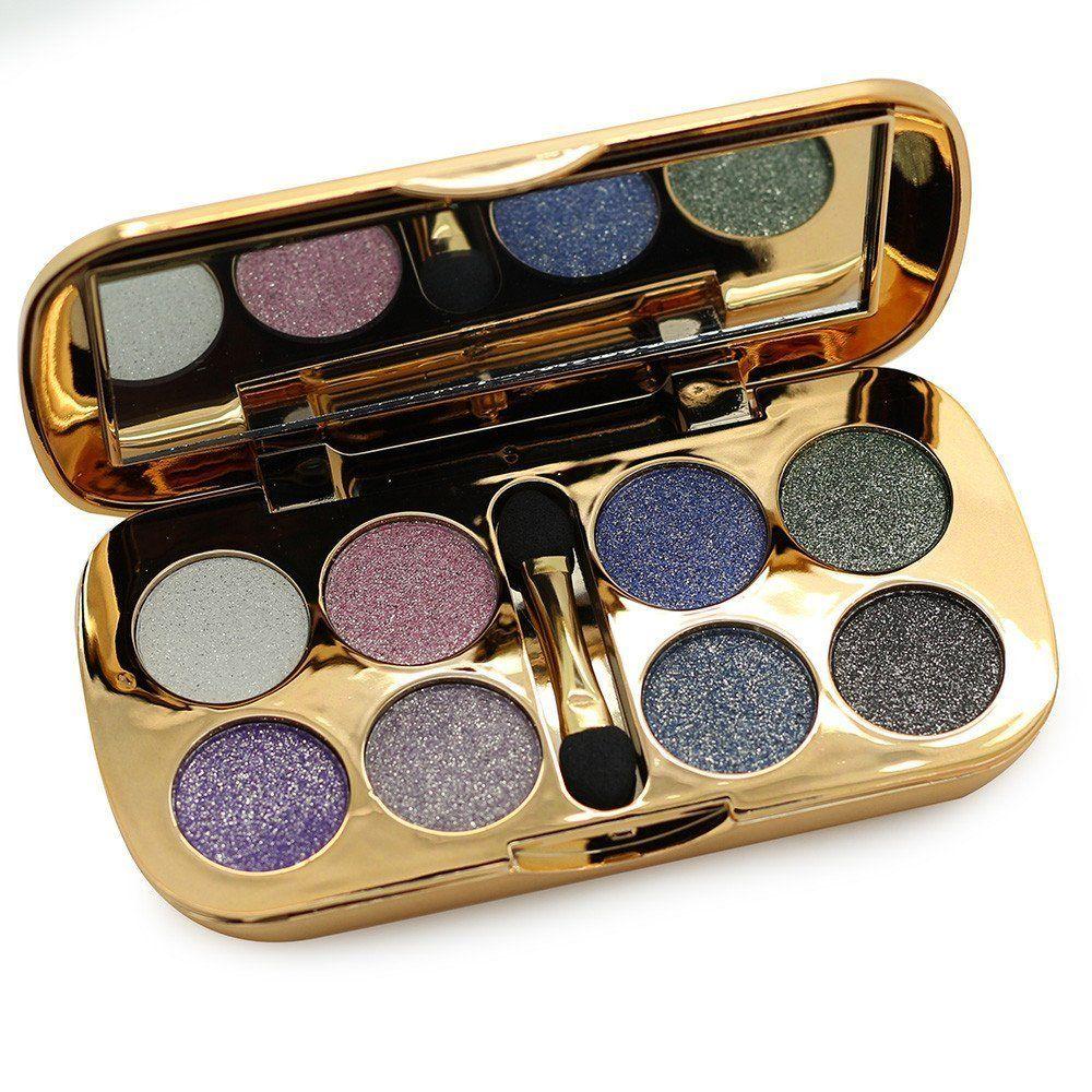 Ucanbe Glitter Matte Eyeshadow Palette 8 Colors Eye Shadow