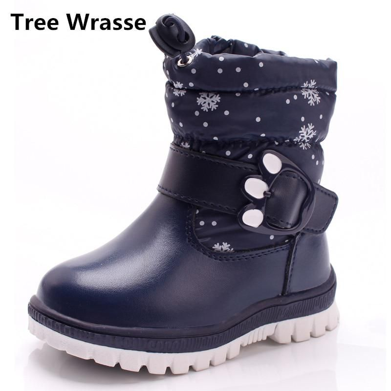 9d7cf8243d1 Tree Wrasse Winter New Children Shoes PU Leather Waterproof Martin Boots  For Kids Snow Boots Toddler Girls Boys Plush Boots. Yesterday s price  US   28.69 ...