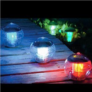 Outdoor Solar Color Changing LED Floating Lights Ball Pond Path Landscape