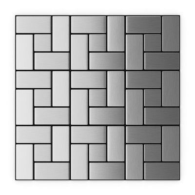 Inoxia Speedtiles 11 22 X 11 22 Stainless Steel Peel Stick Tile Stick On Tiles Peel And Stick Tile Metal Tile