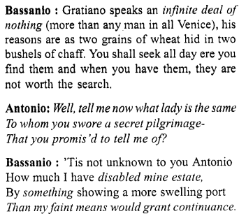 Merchant Of Venice Workbook Answer Act 1 Scene 9 Http Www Aplustopper Com Acting Text With Paraphrase Pdf