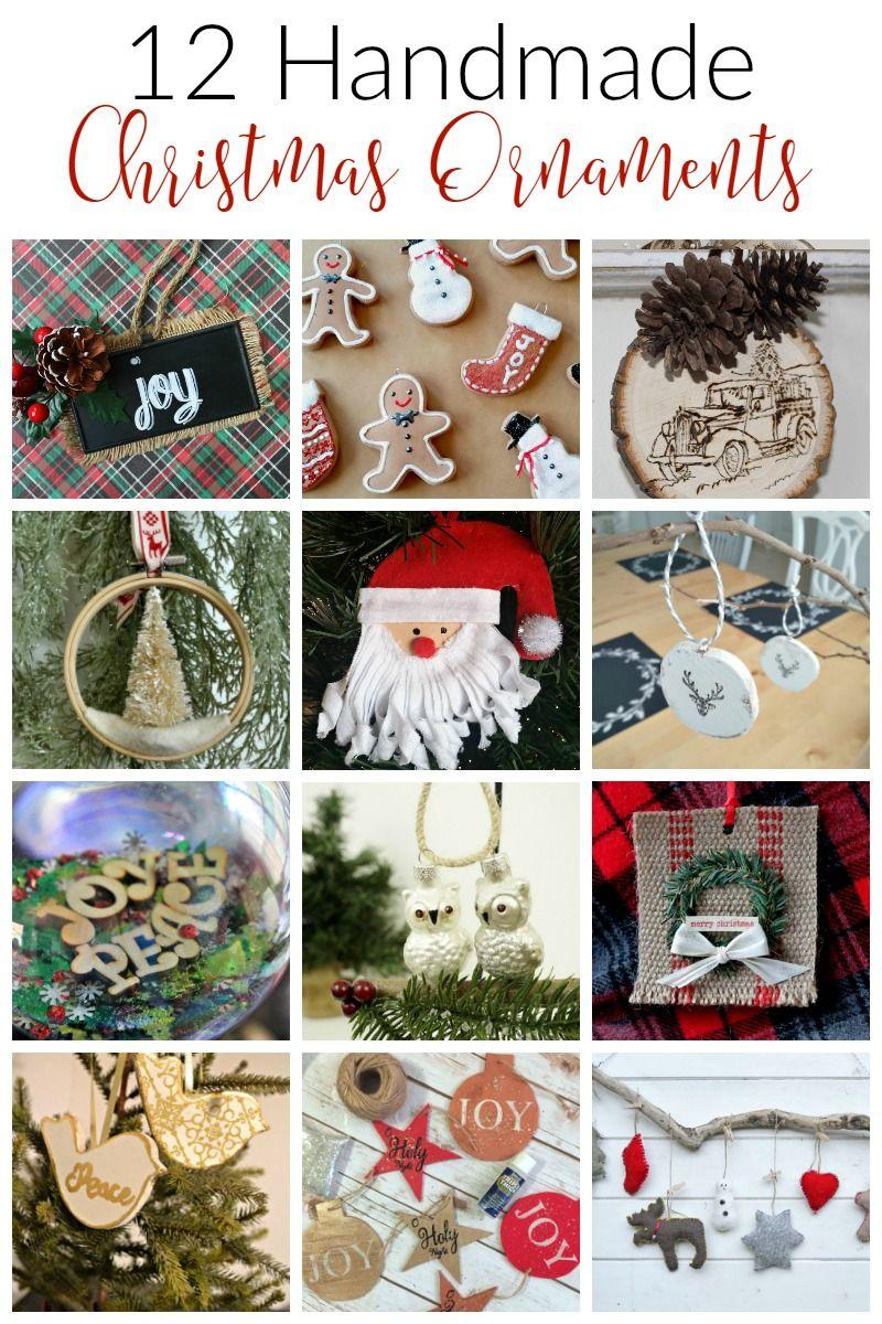12 Diy Handmade Christmas Ornaments Handmade Christmas Ornaments Handmade Christmas Christmas Ornaments