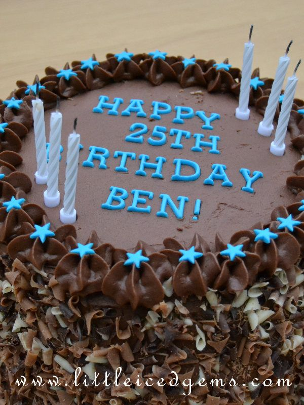 Chocolate Birthday Cake For Boys Guys Men Littleicedgems