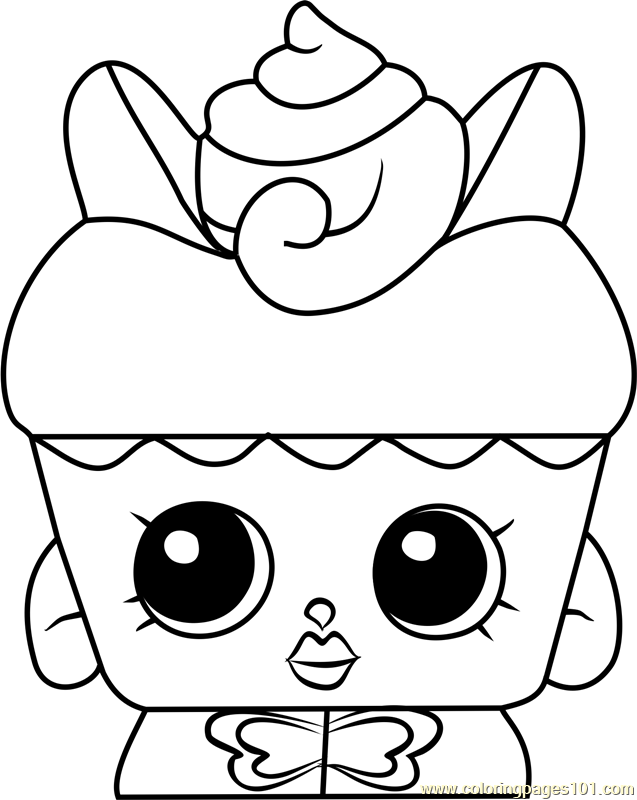 Flutter Cake Shopkins Coloring Page Shopkins Colouring Pages Shopkins Coloring Pages Free Printable Free Kids Coloring Pages