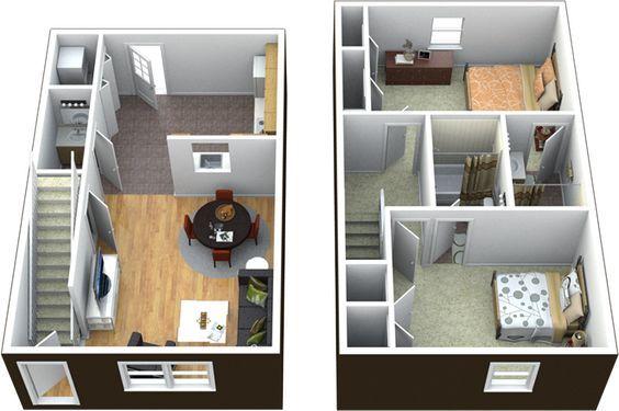 Great 2 Bedroom Townhouse Floor Plans