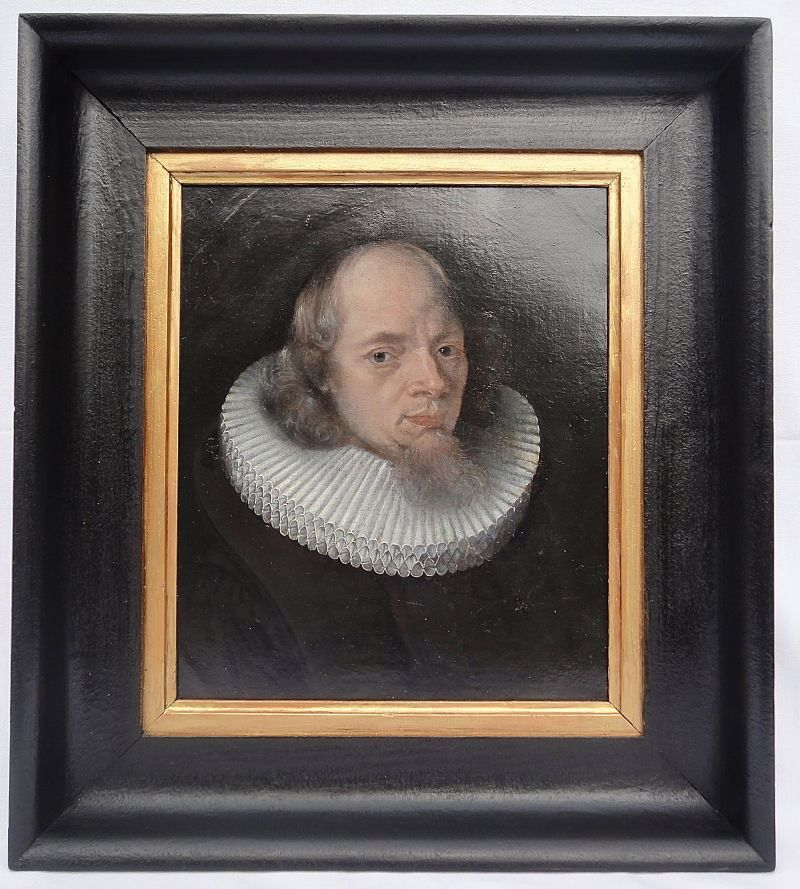 """#Portrait of a man """"of quality"""" with a beard. #Oil on #canvas. Frame of posterior time in black lacquered wood. #Flemish School of the first half of the #17th century by a follower of Cornelis de Vos (1584-1651). For sale on Proantic by Adelphi Antiquités."""