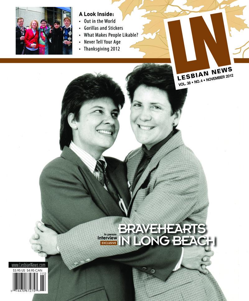 Lesbian News November 2012 - Bravehearts in Long Beach
