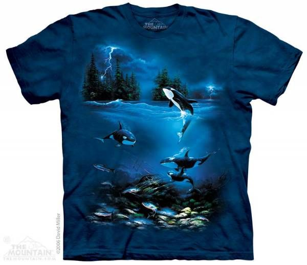 The Mountain Orca Whale T-shirt | Stormy Night