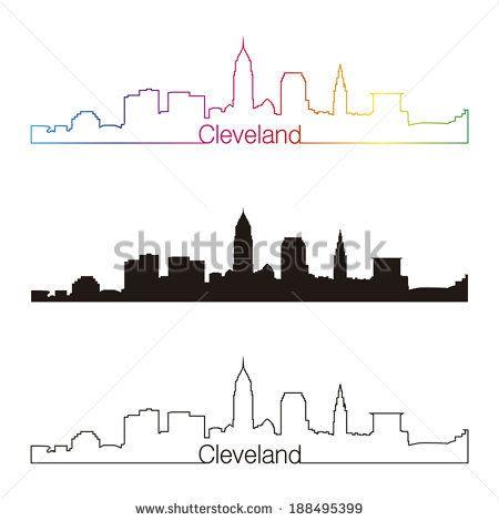 Cleveland skyline outline google search tats for Cleveland skyline tattoo