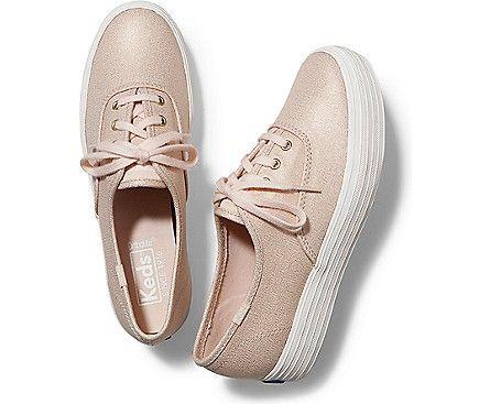 TRIPLE METALLIC, Rose Gold | Keds, Keds shoes, Shoes