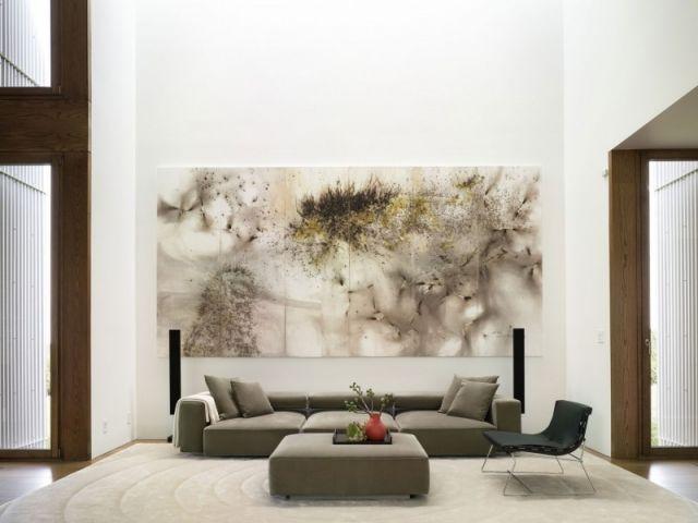 Wohnzimmer sitzmöbel wand dekoration großformatiges design bild