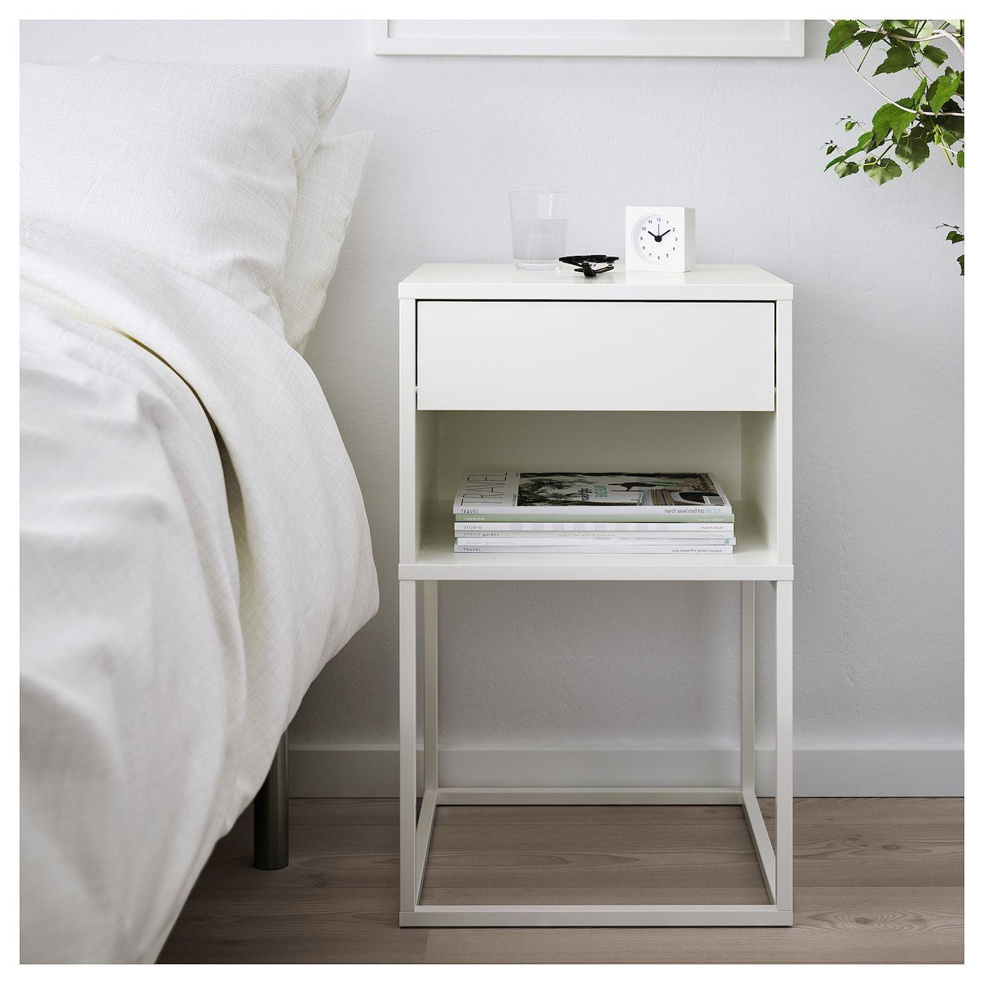 Ikea Vikhammer Nachttisch Weiss Products Diy Mobel