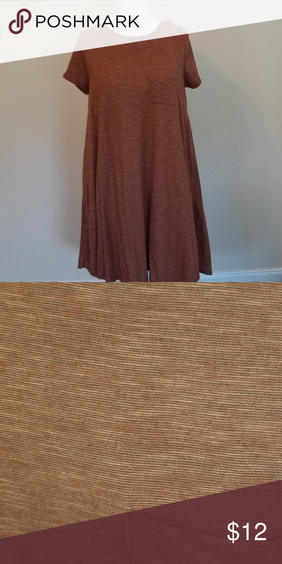 7105f6595b5 Brown Heather Carly Brown Carly with orange undertones in material. LuLaRoe  Dresses High Low