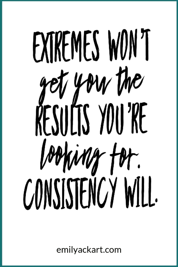 Exercise consistency gets results. Dont focus on extreme diets or trends like Keto, Atkins, or Paleo...