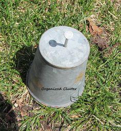 miniature zinc pails barn wood planter tutorial, gardening, repurposing upcycling