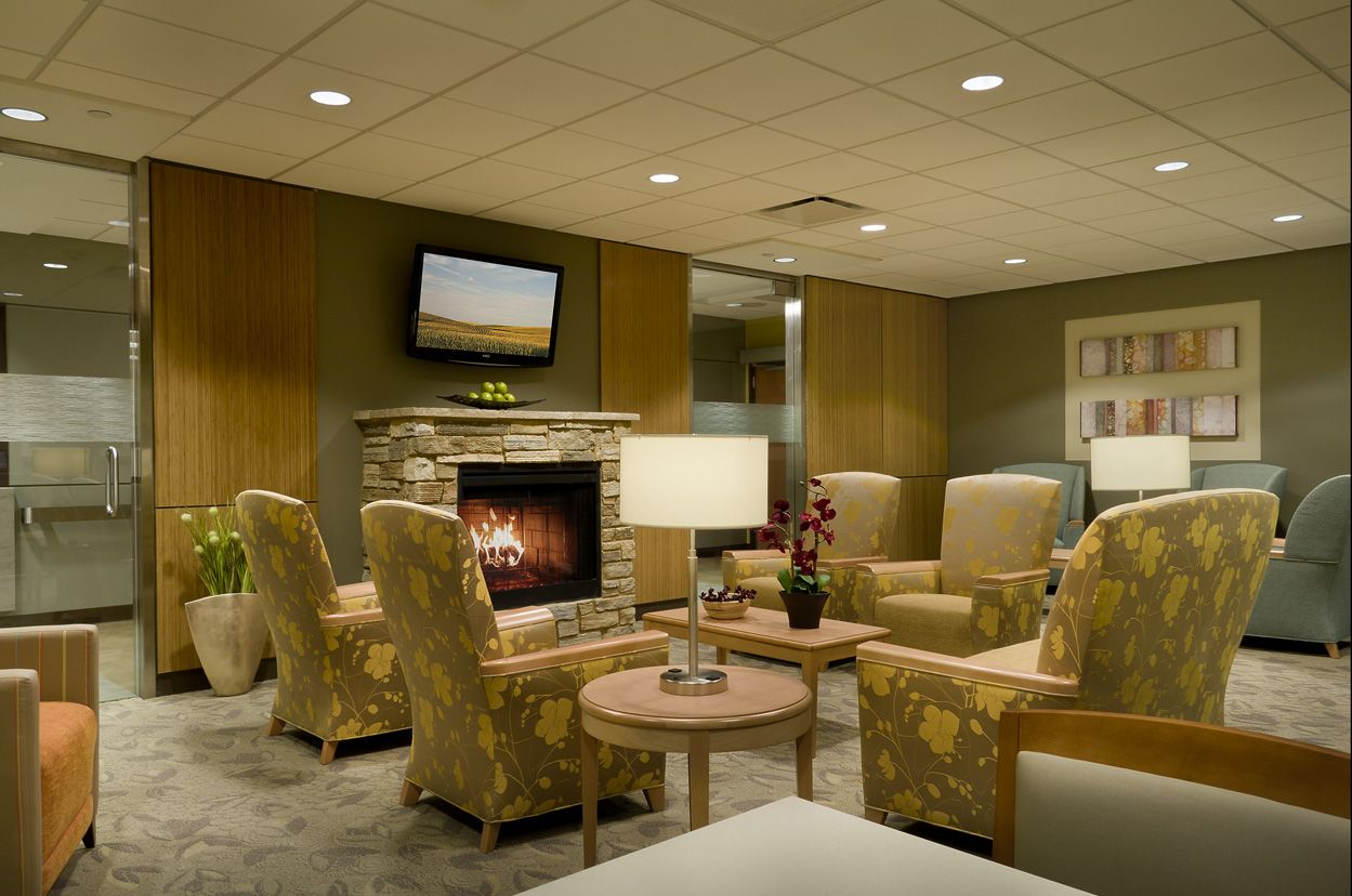 Cozy Icu Waiting Room Designed By Jensen And Halstead With