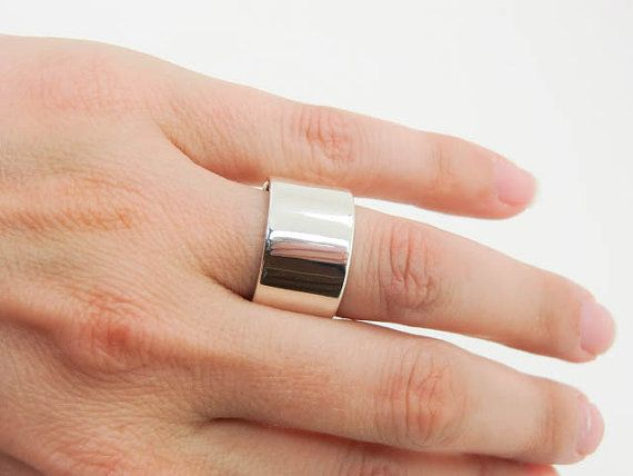 Wide Silver Ring Wide Band Ring Womens Bands Silver Ring Band Hammered Silver Minimalist Ring Casual Rings Simple Band Ring