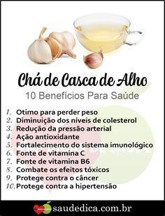 Cha De Casca De Alho O Que E Beneficios E Como Usar Chas