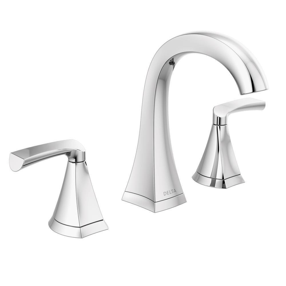 Delta Pierce 8 In Widespread 2 Handle Bathroom Faucet In Chrome 35899lf The Home Depot Bathroom Faucets Marble Vanity Tops Cultured Marble Vanity Top [ 1000 x 1000 Pixel ]