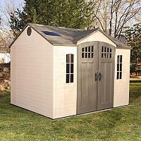 Exceptional Lifetime 10u0027 X 8u0027 Outdoor Storage Shed With Carriage Doors