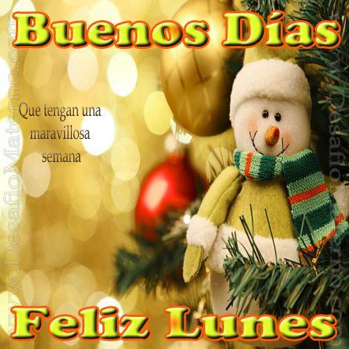 Inicio Feliz Navidad.Buenos Dias Lunes Bonito Inicio De Semana Feliz