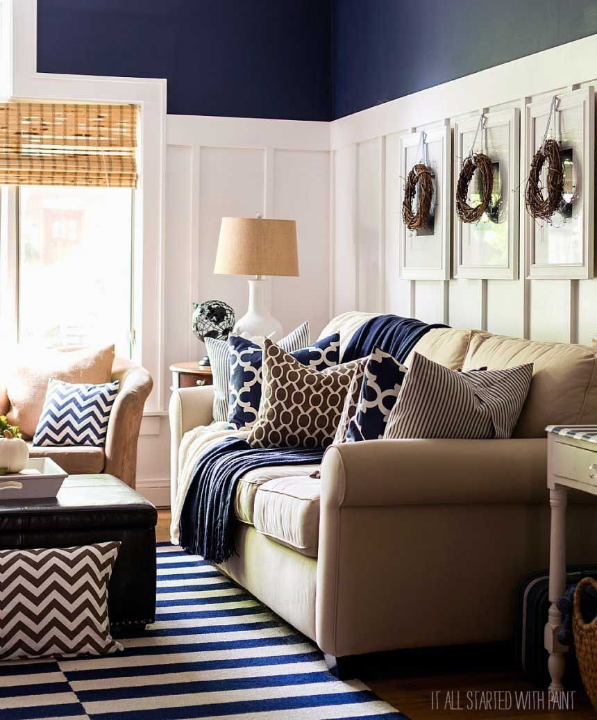 Princely Grey And Cream Living Room Colors Designs | Blue ...