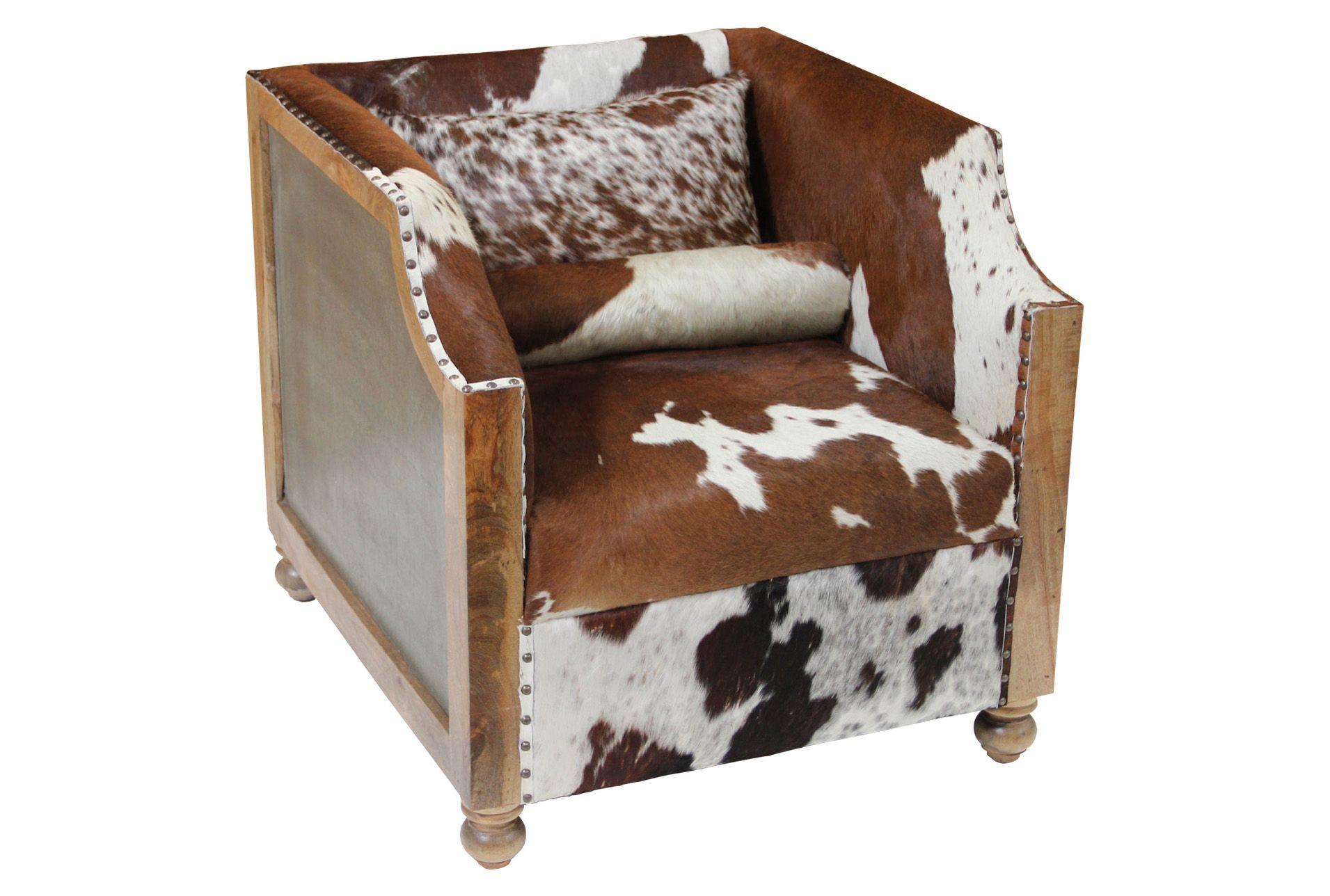 Cowhide Wood Frame Club Chair Club Chairs Wood Frame Chair