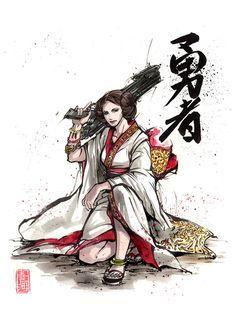 ARTIST: MyCks Sato | via: #Yellowmenace | ● Asian Star Wars Art Collection: Featuring 40+ rebellious artworks @ YM Blog > http://blog.yellowmenace.net/2017/01/asian-star-wars-art-collection.html | #StarWars #AsianInspired #popart #fanart #Leia