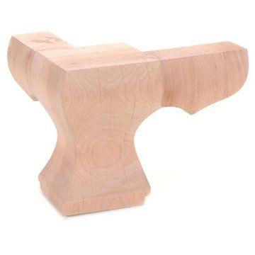 Legacy Square Corner Pedestal Foot Furniture Feet Furniture Furniture Legs