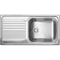 Single Bowl Left Hand Drainboard Topmount Stainless Steel Kitchen
